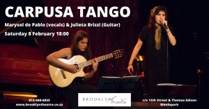 Carpusa TANGO from Buenos Aires at Brooklyn Theatre @ Brooklyn theatre Menlopark |  |  |